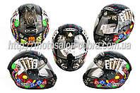Шлем-интеграл   (mod:Fireworks) (size:ХL, черный +солнцезащитные очки, DICE)   CIRUS