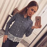 Рубашка с кружевом 8081, фото 1