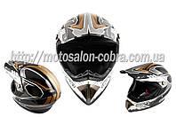 Шлем кроссовый   (mod:B-600) (size:L, черный)   BEON