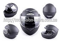 Шлем трансформер   (mod:111) (size:L, черный матовый, + солнцезащитные очки)   FGN