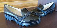 Детские туфли лакированные, тракторная подошва р.31-38