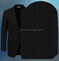 """Чехол для хранения одежды 60х100см из дышащей ткани """"спанбонд"""" черный"""