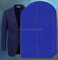 """Чехол для хранения одежды 60х100см из дышащей ткани """"спанбонд"""" синий"""