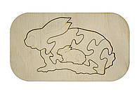 "Дерев'яний пазл-планшет ''Кролик''/Деревянный пазл-планшет ""Кролик"", фото 1"