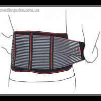 Пояс поддерживающий с почечными пелотами (арт. R3201) чёрный, серый