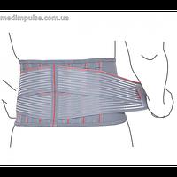 Пояс поддерживающий с ребрами жесткости (арт. R3205) серый