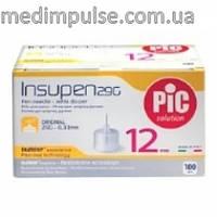 Стерильные иголки INSUMED для инсулиновых ручек, 29G*12мм(0,33*12мм) 100шт.