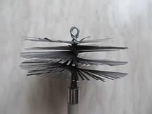 Щетка для чистки дымохода LUX ф130 металлическая под резьбу, фото 3