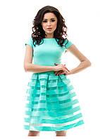 Женственное платье с шифоном 46