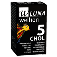 Тест-полоски Wellion Luna Duo холестерин, 5 шт.