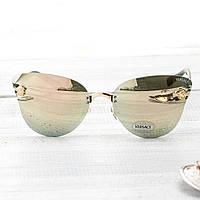Женские брендовые очки Versace Версаче золотые