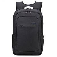 Рюкзак TIGERNU для ноутбуков темно-серый с голубым логотипом с USB