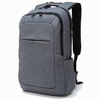 Рюкзак TIGERNU для ноутбуков серый с голубым логотипом
