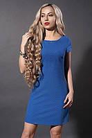 Летнее платье мод 277-1 , синий квадрат , размеры 44,46,48, фото 1
