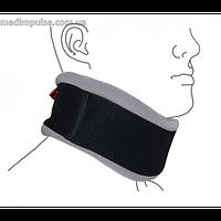 Шейный бандаж с регулируемой фиксацией (ШИНА ШАНЦА) (ReMed арт. R1103) чёрно-серый