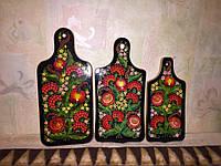 Набор досок разделочных декоративных рябина . три размера (3 шт.)