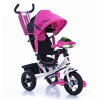 Велосипед детский с ручкой crossride Lambortrike Темно розовый