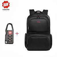 Рюкзак TIGERNU для ноутбуков черный с красным логотипом с кодовым замком