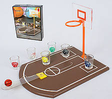 Игра настольная Баскетбол питейный (в наборе 4 стопки) 34.5см