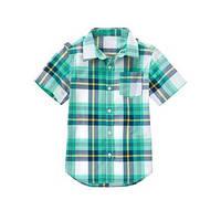 Клетчатая рубашка с коротким рукавом Crazy8 (США); 5-6, 7-8, 10-12 лет
