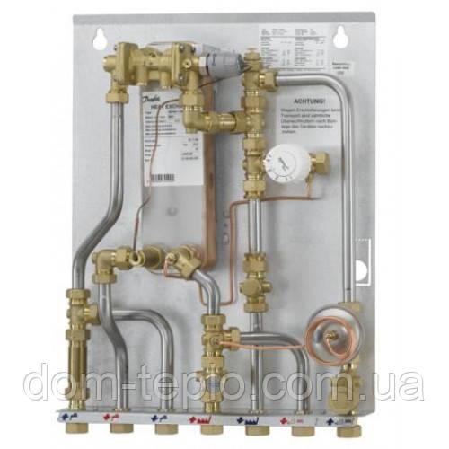 Квартирный тепловой пункт для зависимого отопления и ГВС Danfoss Akva Lux II TDP-F type 1 (XB06H-1-40) 37 - 55