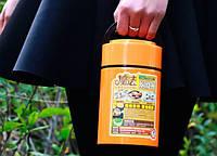 Вакуумний термос для їжі на 800 мл. зі складною ложкою, фото 1