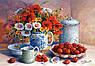 """Схема для вишивання бісером на бавовняному полотні """"Натюрморт з вишнею"""". Художник Trisha Hardwick, фото 2"""