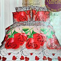 """Двуспальный комплект постельного белья Lux Comfort - прост.190 х 230, - под. 200 х 220 """"Подарок"""""""