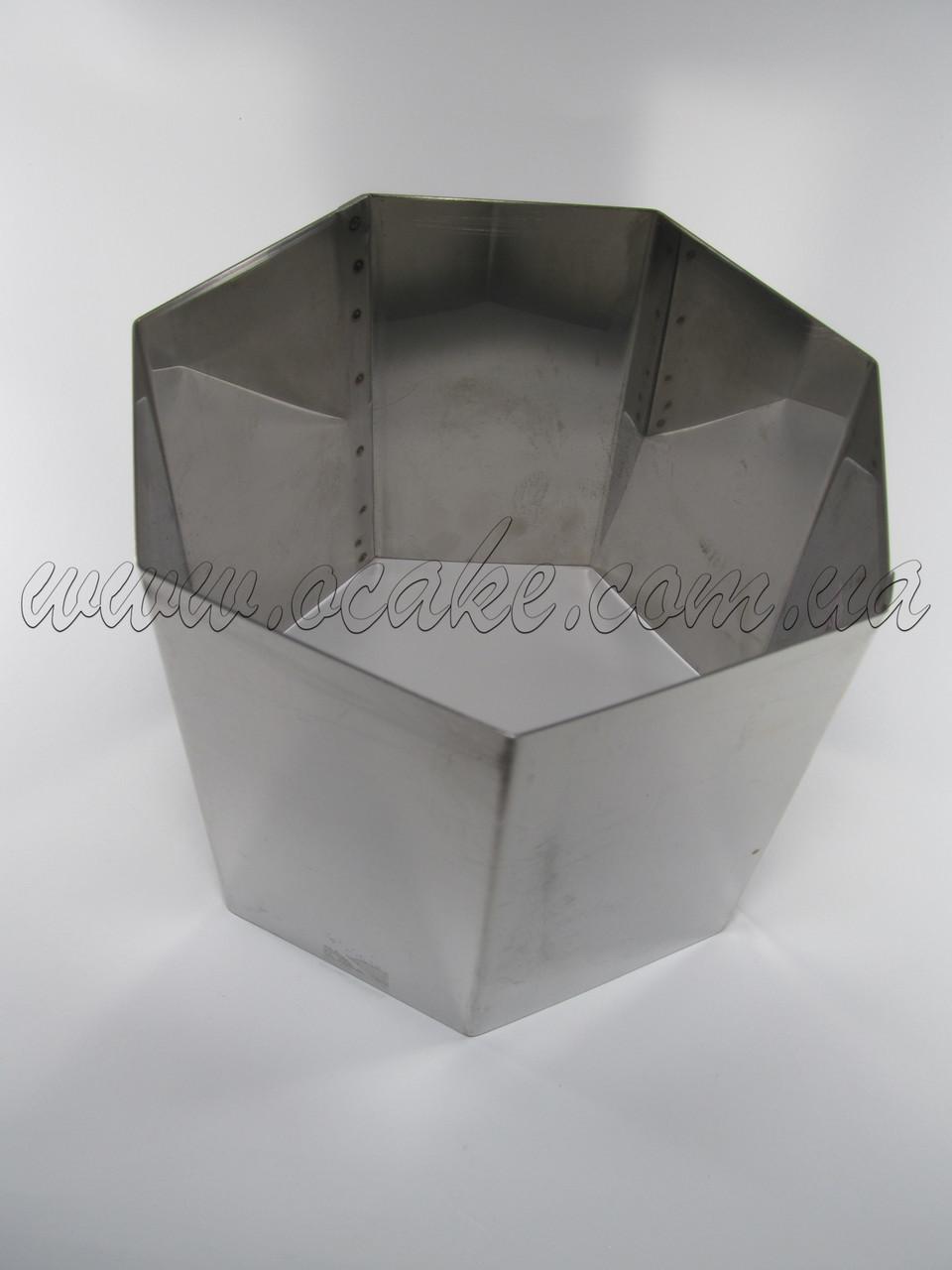Форма семиугольник Н 15 см, Ø 24 см