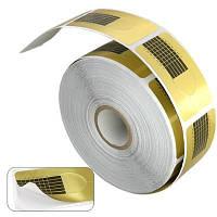 Формы для наращивания ногтей узкие (золото), 500 шт.
