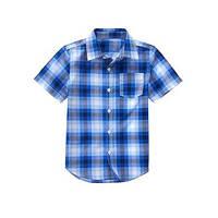 Клетчатая рубашка с коротким рукавом Crazy8 (США); 5-6, 7-8 лет