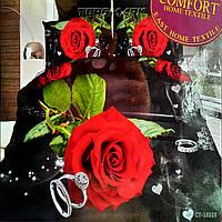 """Полуторный комплект постельного белья Lux Comfort - прост.160 х 220, - под. 150 х 210 """"Кольца и роза"""""""