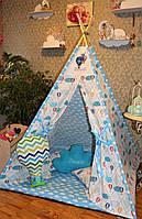 """Детский игровой домик, вигвам, палатка, шатер, шалаш """" Полет на воздушном шаре"""", фото 1"""