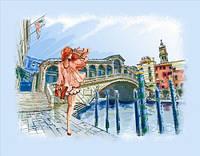 Набор для вышивки бисером Прогулка по Венеции ВБ1039