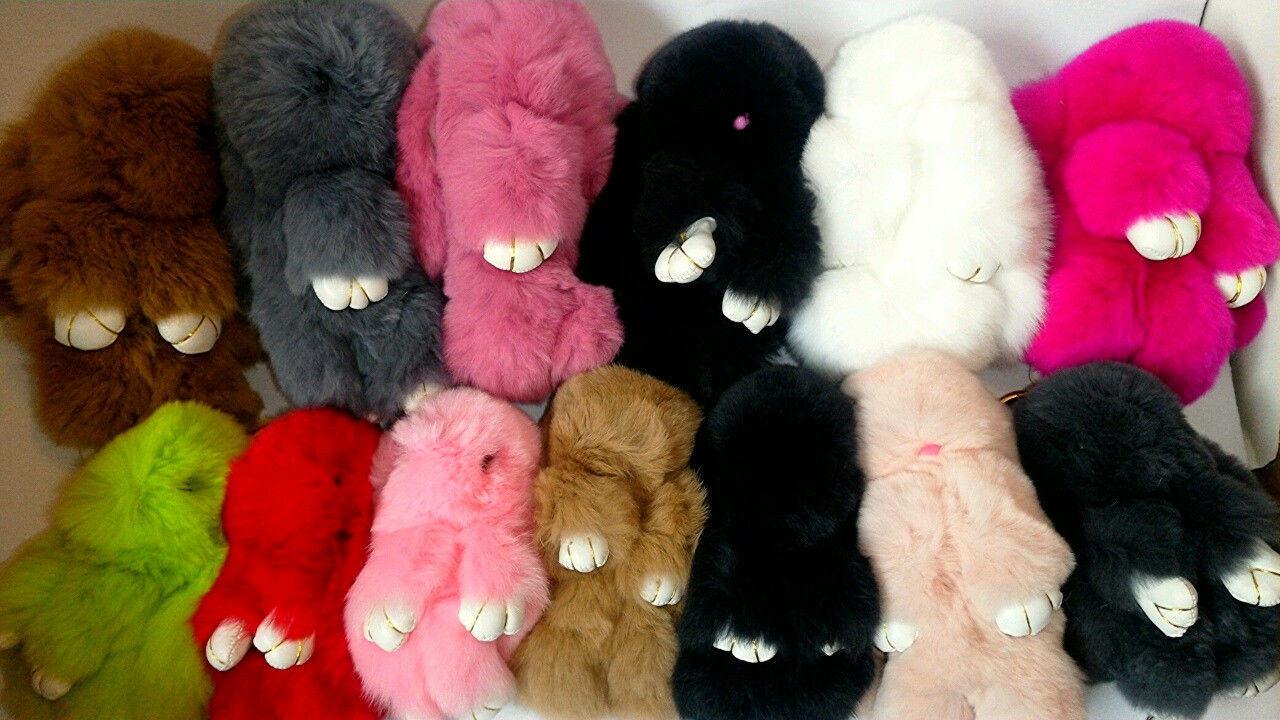 Кролики мягкие игрушки брелки