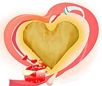 Еней-Плюс Подушка декоративная сердце (0003)