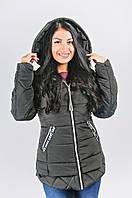 Черная демисезонная куртка молодежная