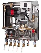 Квартирный тепловой пункт для зависимого отопления и ГВС Danfoss Termix VMTD MIX Compact 28