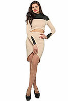 Молодежный женский бежевый костюм  SO-14085-BEG  ТМ Alpama  42-46 размеры