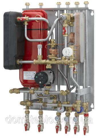 Квартирный тепловой пункт для независимого отопления и ГВС Danfoss Akva Lux II VX type 1 DHW  32 - 41 кВ