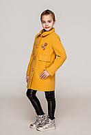 Детское демисезонное пальто кашемир на девочку размеры 104-122 Кира- стильно и красиво!