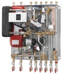 Квартирный тепловой пункт для независимого отопления и ГВС Danfoss Akva Lux II VX HWP, ECL, 1 HE circ.