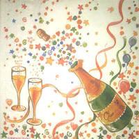 Салфетка Шампанское