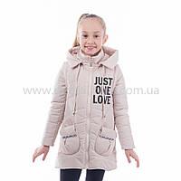 """Детская  куртка-жилет  демисезонная для девочки """"Элиза"""" с капюшоном,новинка 2017года, фото 1"""