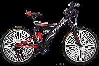 """Двухподвесный горный велосипед Titan Tornado 26"""" (Black-Red-White), фото 1"""