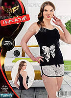 Женский комплект майка+шорты Турция. Night Angel 4830 L/XL. Размер 44-46.
