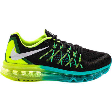 Мужские кроссовки  Nike Air Max 2015 Black Volt Hyper Jade