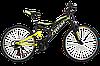"""Горный двухподвесный велосипед Titan Ghost 26"""" (Black-Lightgreen-White)"""