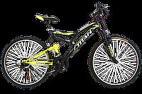 """Горный двухподвесный велосипед Titan Ghost 26"""" (Black-Lightgreen-White), фото 1"""