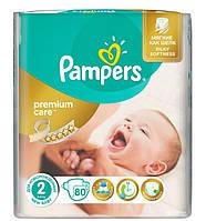 Подгузники Pampers Premium Care New Baby 2 (3-6 кг)  80 шт